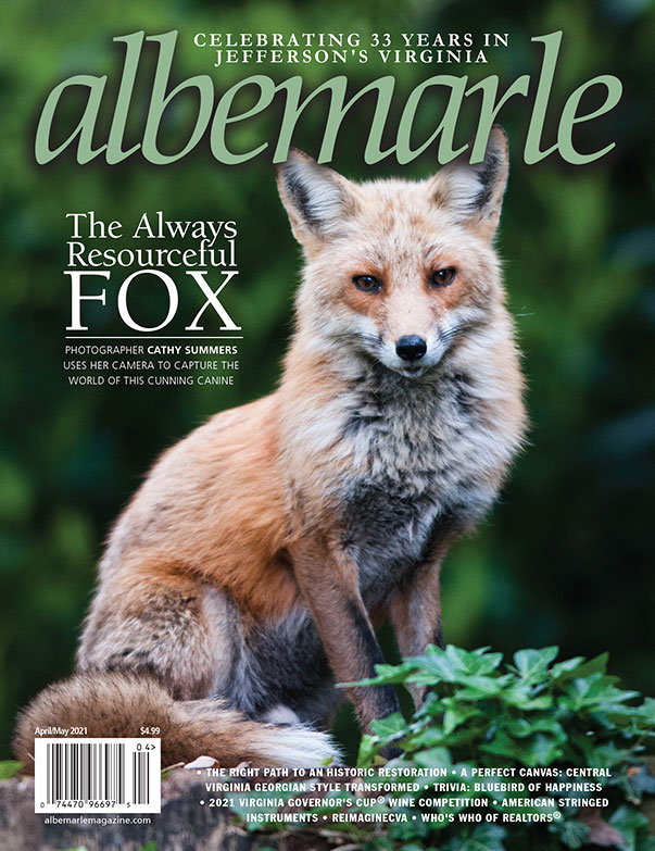 Albemarle Magazine Cover with Fox April 2021